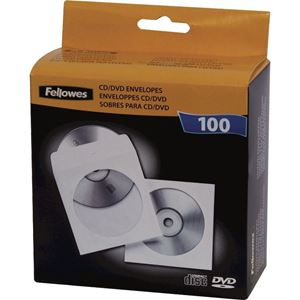Picture of Θήκες CD/DVD Fellowes CD Paper Envelopes White 90691