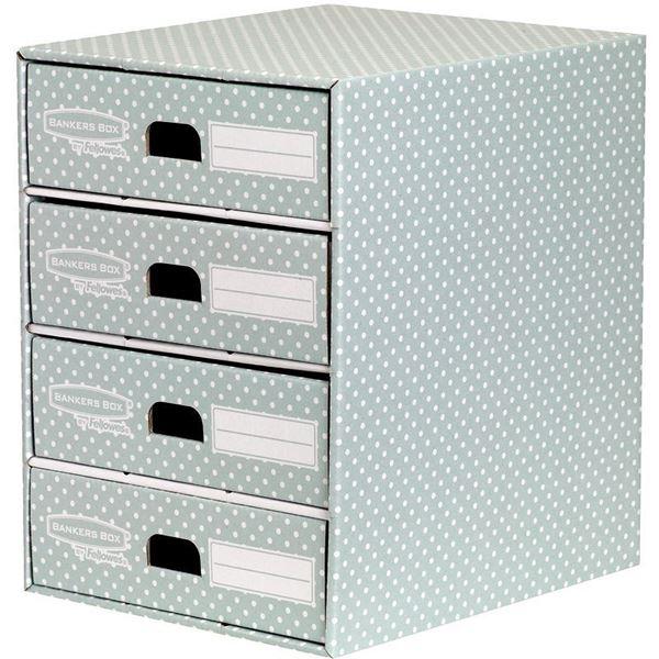 Picture of Κουτί αποθήκευσης Bankers Box®  4 Drawer Unit Green/White 1pk  4481701