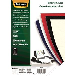 Picture of Εξώφυλλο βιβλιοδεσίας Fellowes Leatherboard black 5373802