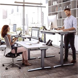 Picture of Fellowes Levado™ Height Adjustable Desk - Grey Βάση μόνο 9708601