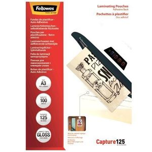 Picture of Δίφυλλο πλαστικοποίησης Fellowes Adhesive Back Glossy A3 125 mic 5329001