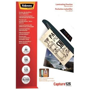 Picture of Δίφυλλο πλαστικοποίησης Fellowes Adhesive Back Glossy A4 125 mic 5328901